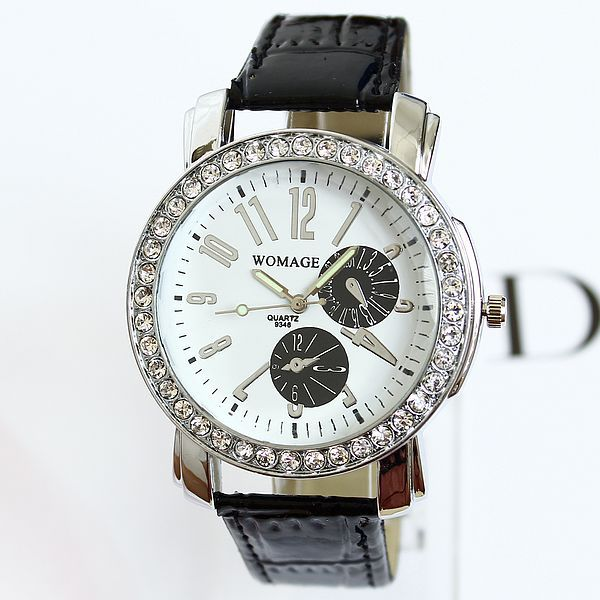 2014 Newest Unique Design Women Fashion Table Casual Style Watch Luminous Needle Diamond Ladies Watches(China (Mainland))