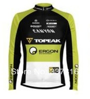 New Hot ! 2014 Topeak Winter Thermal Fleece Cycling Jersey bicicleta Long Sleeve Only ciclismo clothing