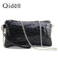 Day clutch female 2014 fashion crocodile pattern cowhide fashion shoulder bag genuine leather cross-body small bag