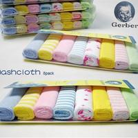 "1Set/16pcs Gerber Towel Baby Wash Cloth 9""x9"" Infant Towel Baby Feeding Towel Handkerchief Free Shipping FZ2043"