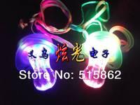 Free Shipping 50PCS/lot LED Flashing Whistle LED flashing Pacifier light up Whistle led toy for party supplies