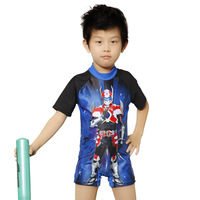 Transformers  cartoon swimwear,baby boy one-piece swimsuit 2014 new children swimming trunks ,Rash Guard ,King Surfer