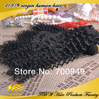 Top Beauty!!! Wholesale virgin hair curly unprocessed mongolian human hair tight curly hair Weft for extensions grade 4A 1bundle