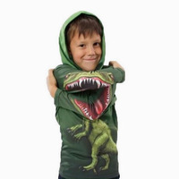 Free shipping cotton dinosaur hoodies 2~4age  2013 new children's t shirts for boys baby clothing