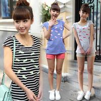 Basic shirt female 2014 summer loose plus size clothing casual personalized short-sleeve t-shirt female