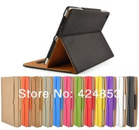 Promotion!! Leather flip case cover for ipad air  3 4 5 with retail packing & free shipping