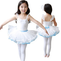 Kids Baby Summer New Sleeveless Cotton Dance Tutu Ballet Leotard Costume Princess Party Wear Dresses for Girls