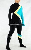 Wholesale - - 2013 new Bobsled Team Uniform Bodysuit Costume Jamaica Flag Lycra Spandex Catsuit Unitard