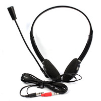 m Overhead Headphone Headset Microphone For PC Laptop Notebook VOIP Skype