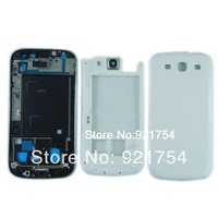 White Back Housing & Battery Cover & midframe housings replacement part for Samsung Galaxy S3 i9300