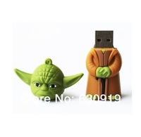 Free shipping New arrival star war Yoda warrior model usb memory flash stick pen thumb drive