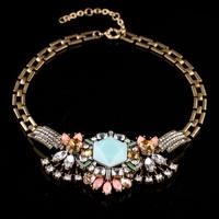 Vintage rhinestone statement choker necklace Cheap
