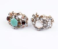 Rhombus crystal flower chain bracelets
