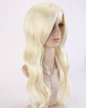 Ohyes Western Stylish Long Natural Blonde Wave Wig Full Women Wig(China (Mainland))