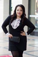 2014 Hot High Quality  Fat Women Big Size Elegent Lace Dresses Plus Size Female Lace Long Sleeve Base Dress