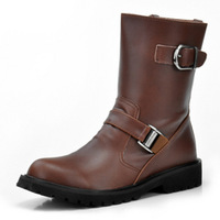 2014 Winter men genuine leather warm snow boots  male Martin boots fashion men shoes British tooling wild style casual boots