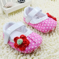 Free shipping wholesale 2014 fashion girl baby's new style infant shoes 6pairs/lot