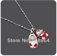 A212 Man Woman Vintage Fashion Jewelry Baby Shoes Pendant Necklaces