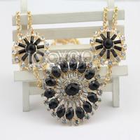 #634 2014 New Shourouk Chucky BLack Round Pendant Necklaces Lady Lovely Chocker Necklaces Free Shipping