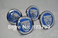 x100 Blue  Background JAGUAR logo Wheel Center Caps Emblem For JAGUAR X TYPE S TYPE WHeel Rims free shipping
