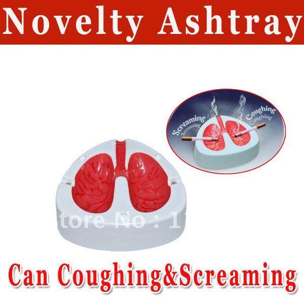 Novelty Ashtray Coughing and Screaming Lung Ashtray Quit Smoking ,funny Ashtray(0502122)(China (Mainland))