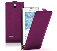 Ultra Slim Flip Leather Vertical case cover for phone Nokia 515 / Dual SIM