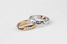 SGLOVE Wellknown Series 18K Gold Plated and 100 Austrian Crystal Classic Tiny Ring with Perfect Lines