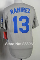 Cheap,#13 Hanely Ramirez Men's Gray 2014 New Baseball jerseys Sale wholesale,Embroidery sewing logos,Free shipping