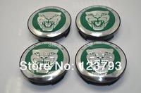 Free shipping Green  Background JAGUAR logo Wheel Center Caps Emblem For JAGUAR X TYPE WHeel Rims
