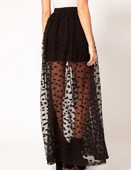 Long Black Straight Skirt 18