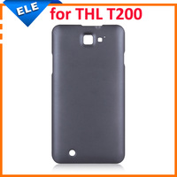 Retail 1PC/Lot Plastic Back Cover Case for THL T200 Black Color In Stock