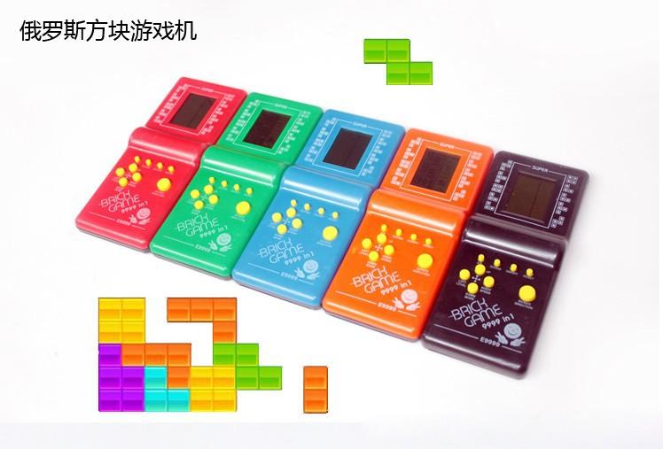 New Tetris Game Hand Held LCD Electronic Game Toys Triple Tetris Brick Game Sliding Blocks free shippinggift(China (Mainland))