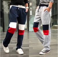 Free Shipping contrast patch mens pants,casual pants men pants,M-XXL