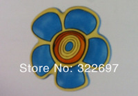 free shipping KL21003 flowers shape Rubber cabinet drawer furniture single hole handle and knob