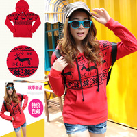 Plus size clothing 200 mm2013 autumn new arrival coat sweatshirt