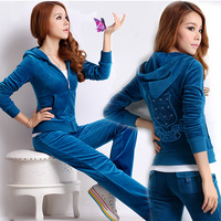 Plus size clothing 200 mm autumn 2013 set cardigan coat casual long trousers