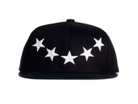 F07676 Summer Hip-Hop Style 5 Stars Pattern Sunbonnet Baseball Peaked Cap Hat For Trendsetter Male Female General + freeshipping