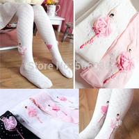 Children's clothing child socks   pantyhose cartoon child girl socks ballet dance socks basic socks