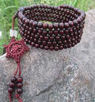 Lucky sandalwood bracelet  108 t around  beads bracelet free shipping