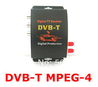 Free shipping mobile Digital Car DVB-T MPEG4 2 antennas  TV Receiver s For Australia, Middle east and Europe area
