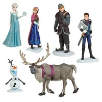 Free Shipping 10 Sets ( 6pcs = 1set )Frozen Figure  Set Anna Elsa Hans Kristoff Sven Olaf loose figure lovely gift