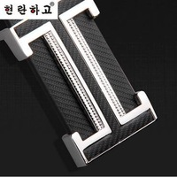 Free Shipping Mens women's Korean alphabet buckle belt casual genuine leather belt fashion belt A078
