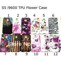 Free Shipping Butterfly Flower TPU Gel Case Cover For Samsung Galaxy S5 i9600