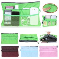 3pcs/lot, multi functional MP3 Phone Tablet PC Storage Purse Pouch Large Liner Travel Slim mini cosmetic bag organizer handbag