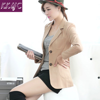 Female slim blazer outerwear women's spring and autumn plus size casual long-sleeve suit thin