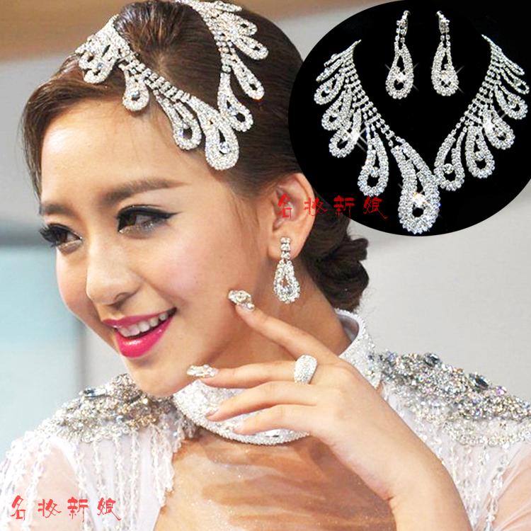 Cars bridal jewelry wedding accessories marriage accessories bride rhinestone chain sets accessories
