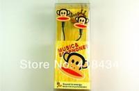 3.5mm cartoon Cute birds Bear monkey cat In Ear Earphones Bass Headset headphone For Mobile cell phone MP3 MP4 MP5 500pcs