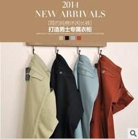 2014 new men's casual pants men cultivating cotton men's casual pants Full Length 1pc/lot