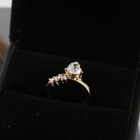 Styles Of Gold Plated Elegant Rhinestone/ Clear Crystal Lover Ring For Jewelery Gift 63082