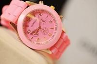 Hot sale New Fashion wristwatches,geneva brand silicone jelly watch quartz watch for women men FREE SHIPPING